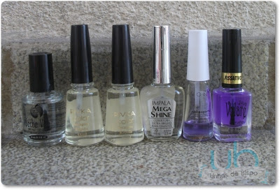 Os meus top coats!