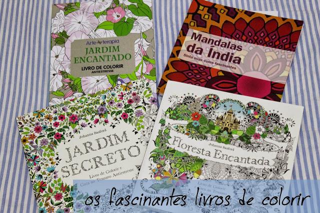 Os fascinantes livros de colorir